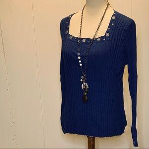 Lane Bryant size 18/20 blue sweater